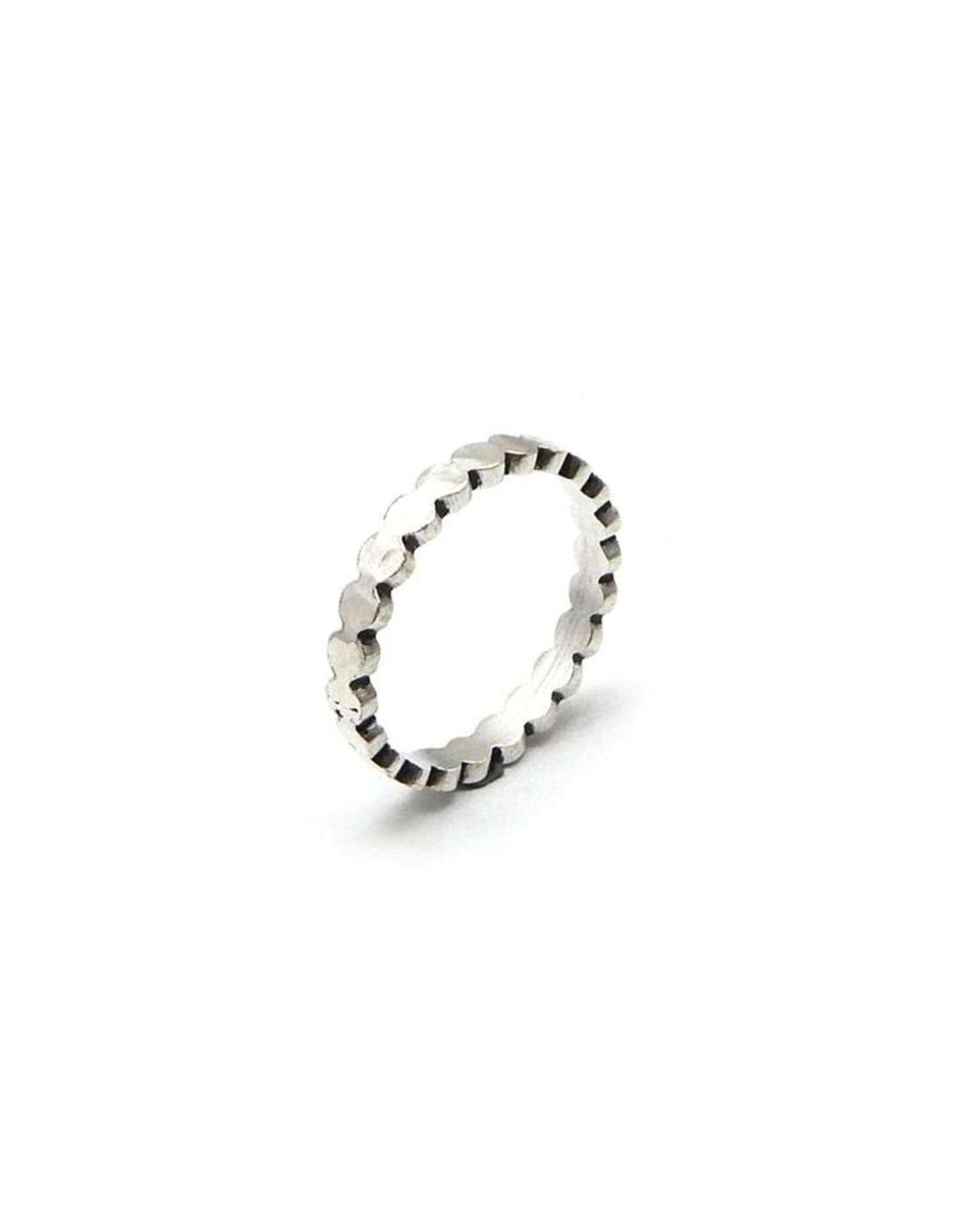 Ring Circles Silber