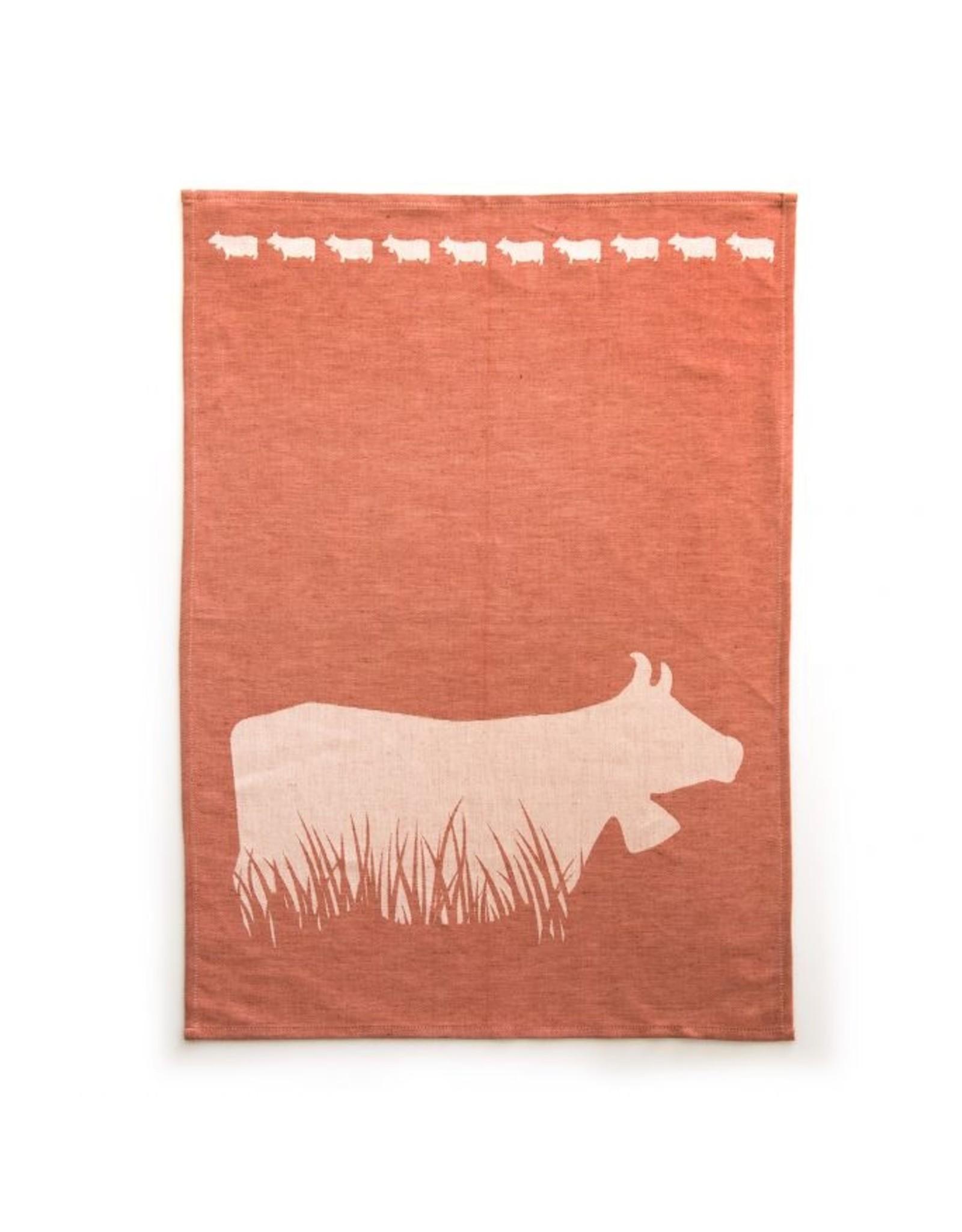JA/UND Geschirrtuch Kuh im Gras