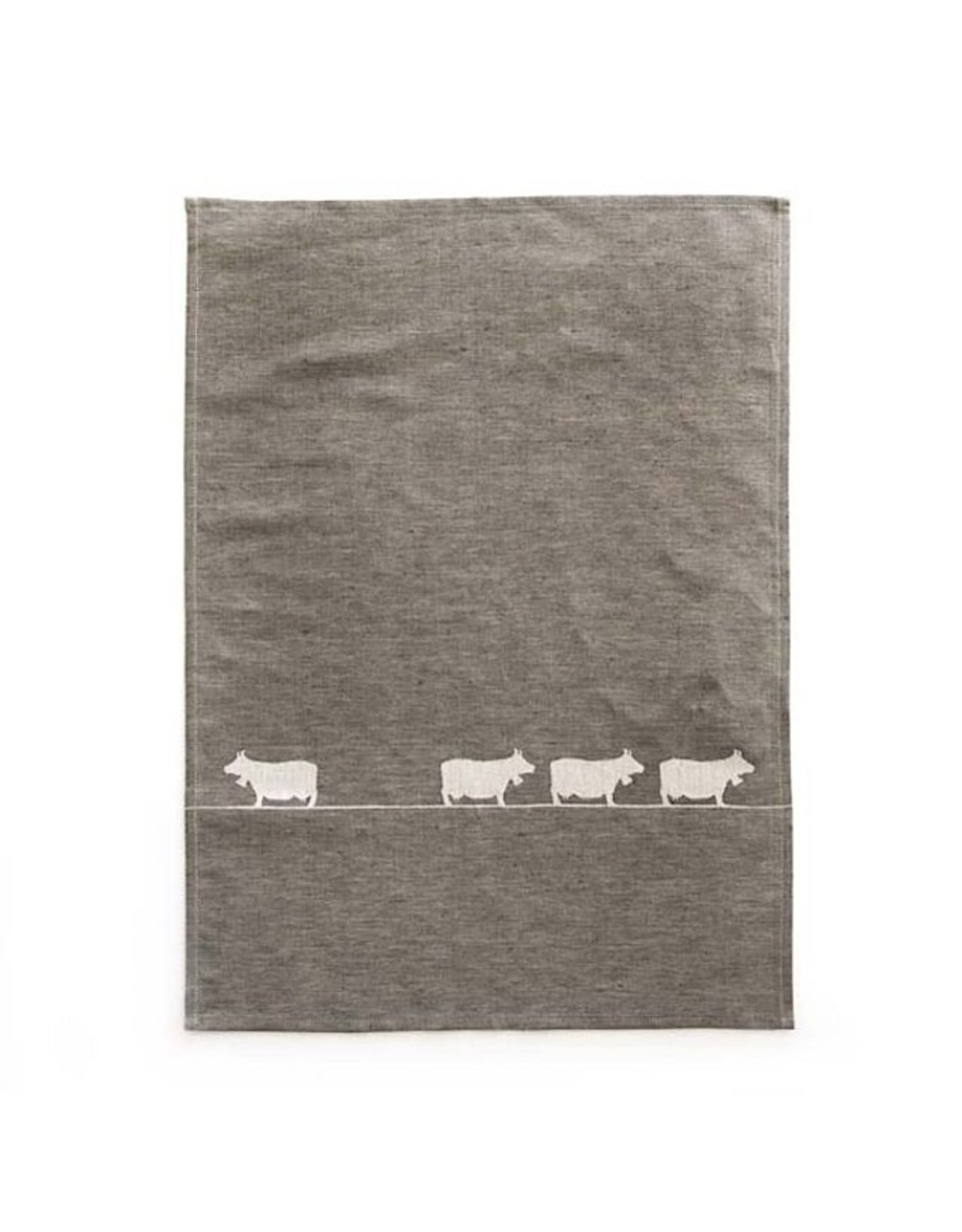 JA/UND Geschirrtuch Kühe  grau 50x70cm