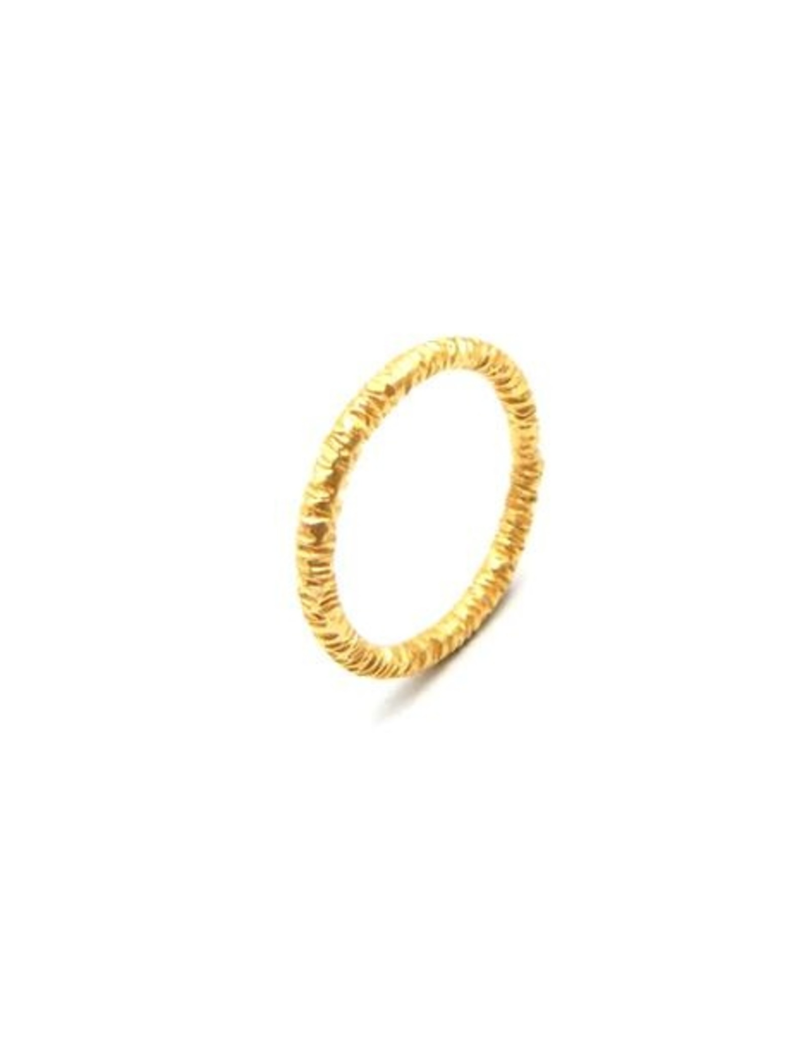 Ring Hammered Gold