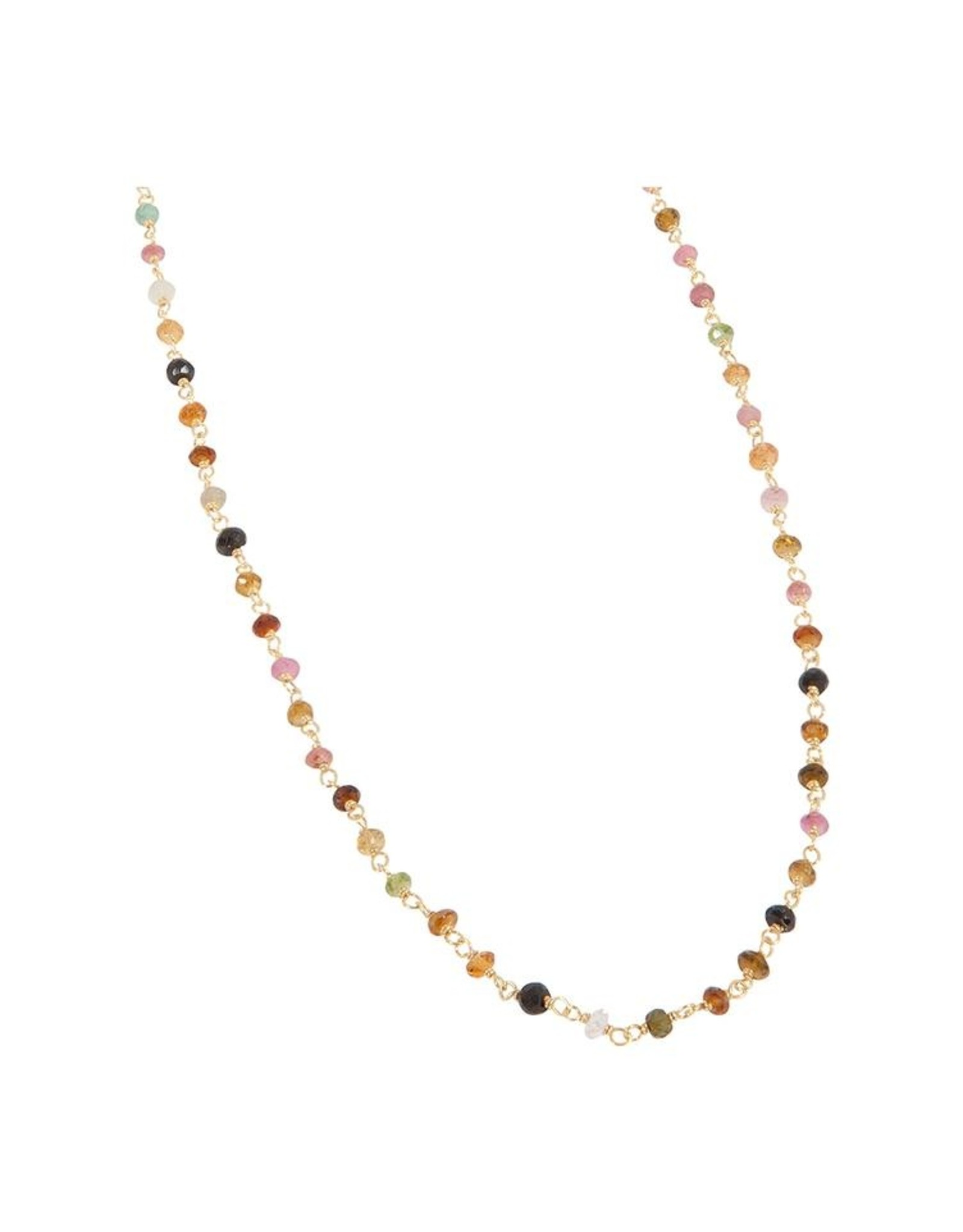 Halskette Tourmaline   925 Silber vergoldet