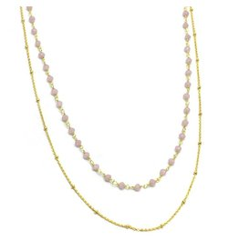 Halskette Regulare Stone Beads Double