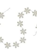 Filzgirlande Snowflake