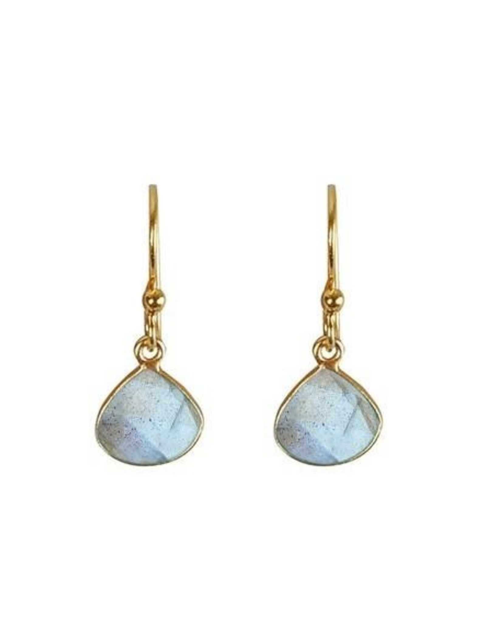 Ohrringe Small Drop Stone Labradorit 925 Silber vergoldet