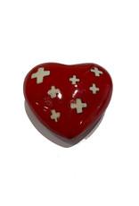 Herzen mit Kuhsound rot