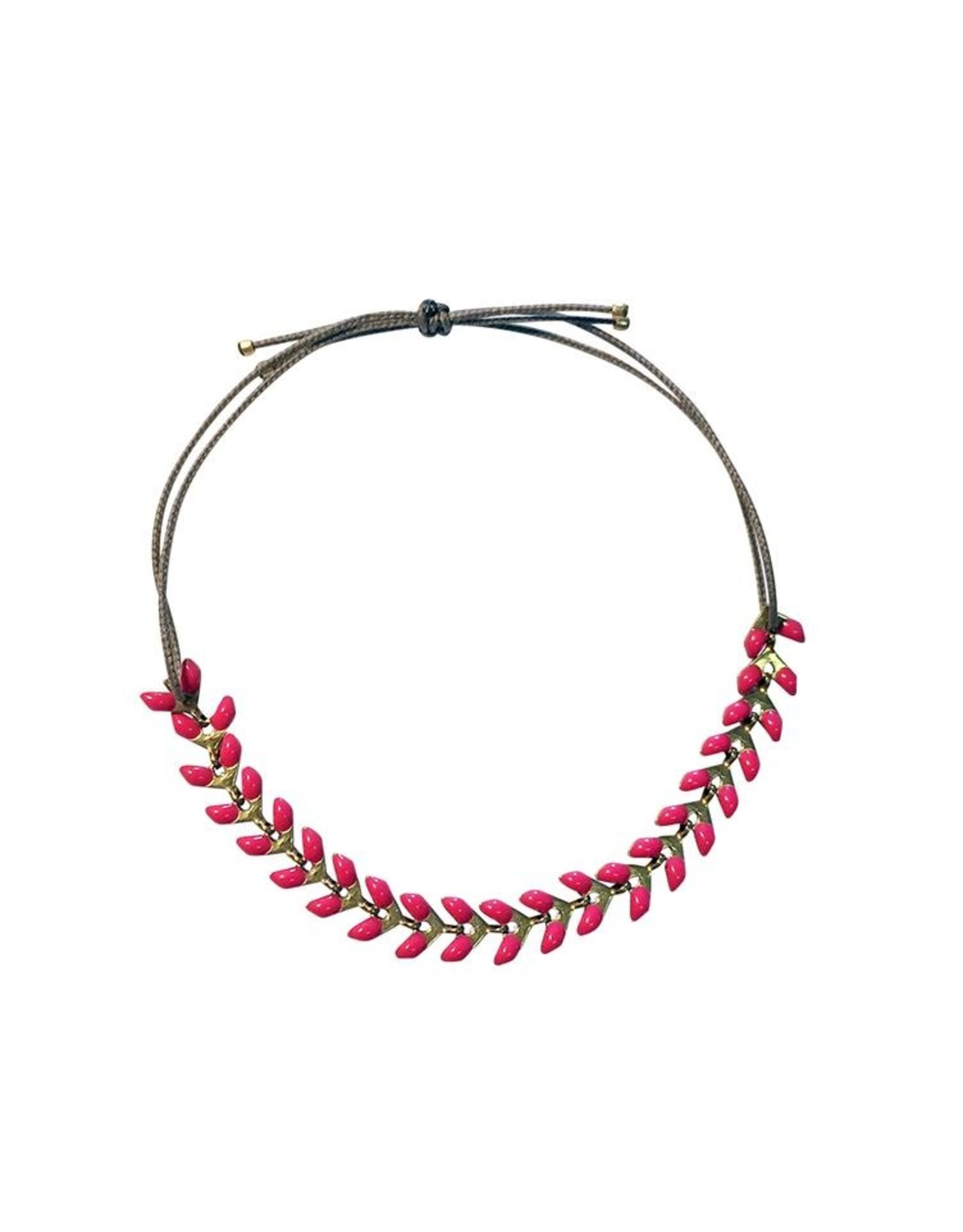 Armband Emaille - Himbeere