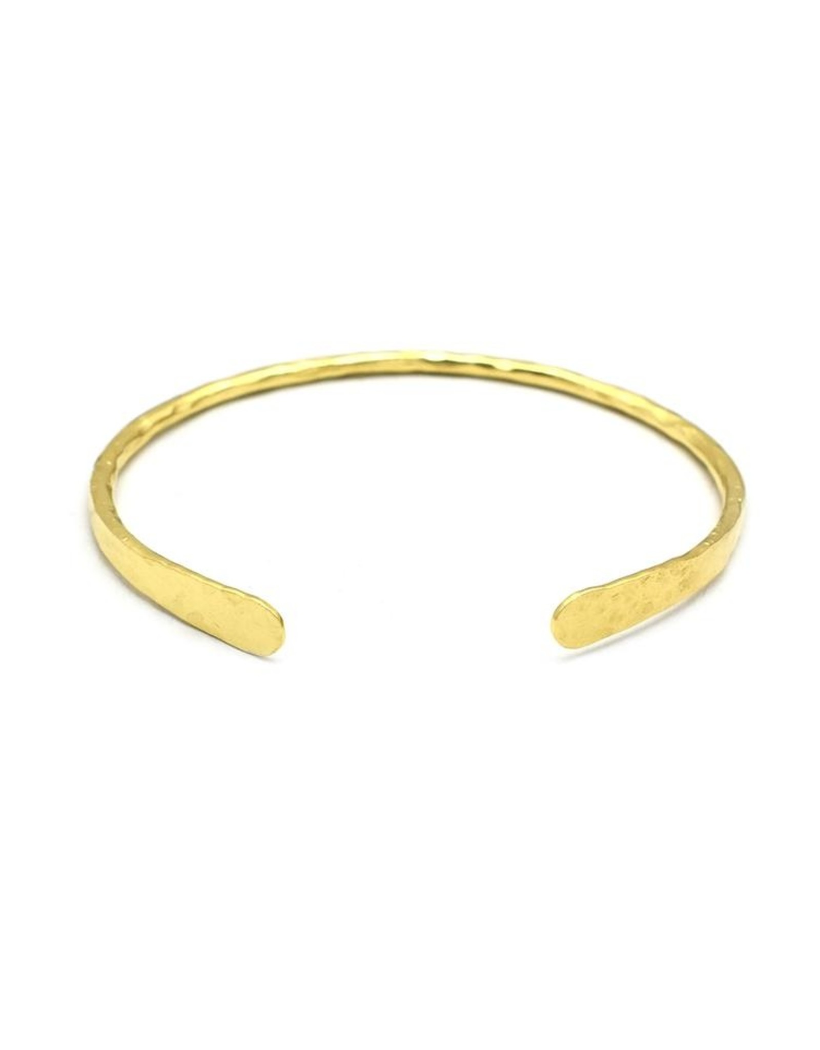 Armreif Hammeret Oval - Silber vergoldet