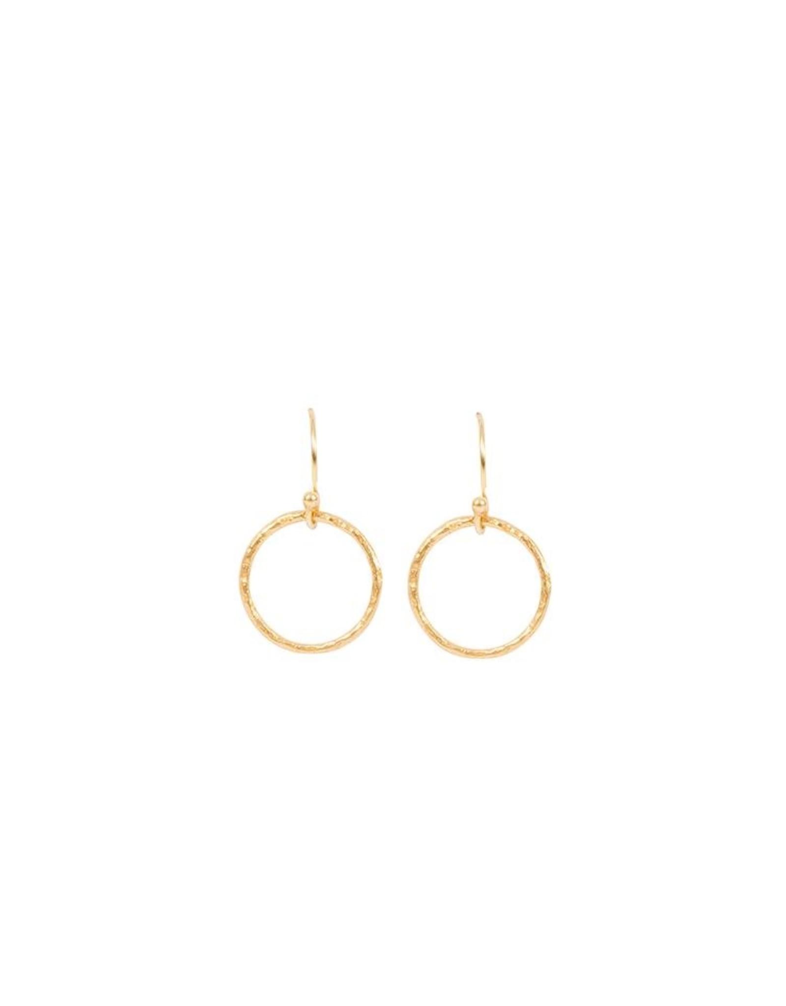 Kreolen Little Circles - Silber vergoldet