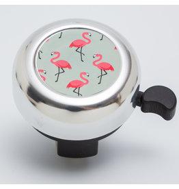Veloglocke zu rosa mit Flamingo