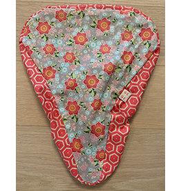 Velosattelschutz rot mit Blumen