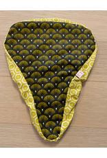 Velosattelschutz gelb mit Fächer