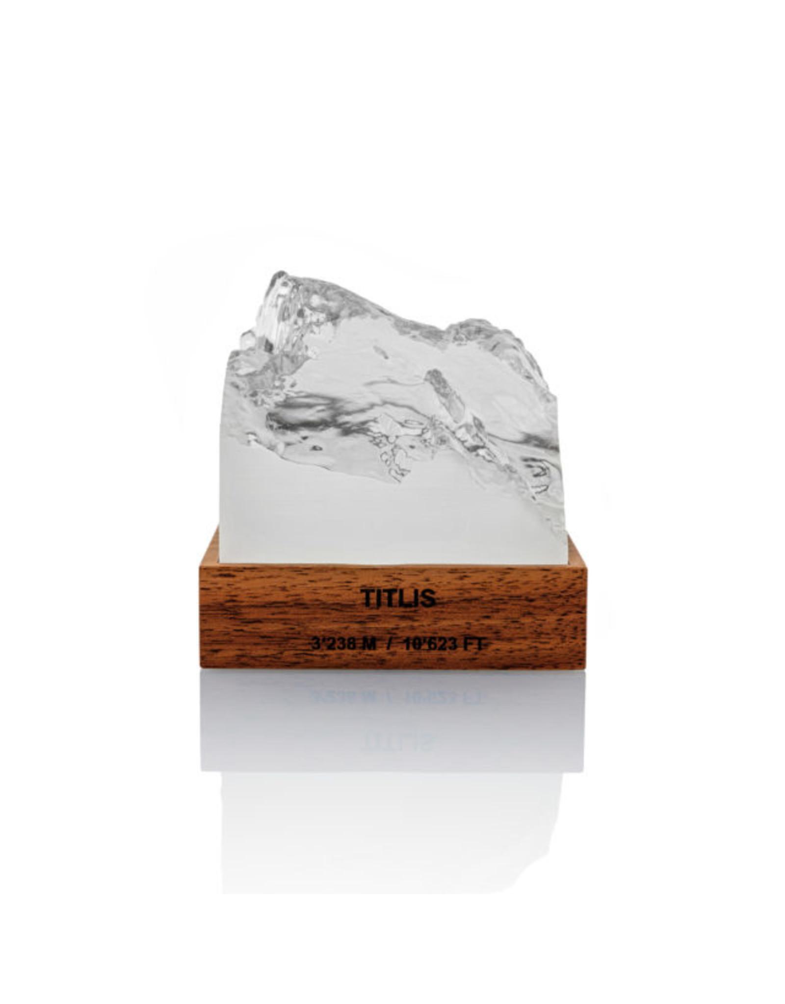 My Little Mountain Bergmodell Titlis Nussbaum/Kunstharz