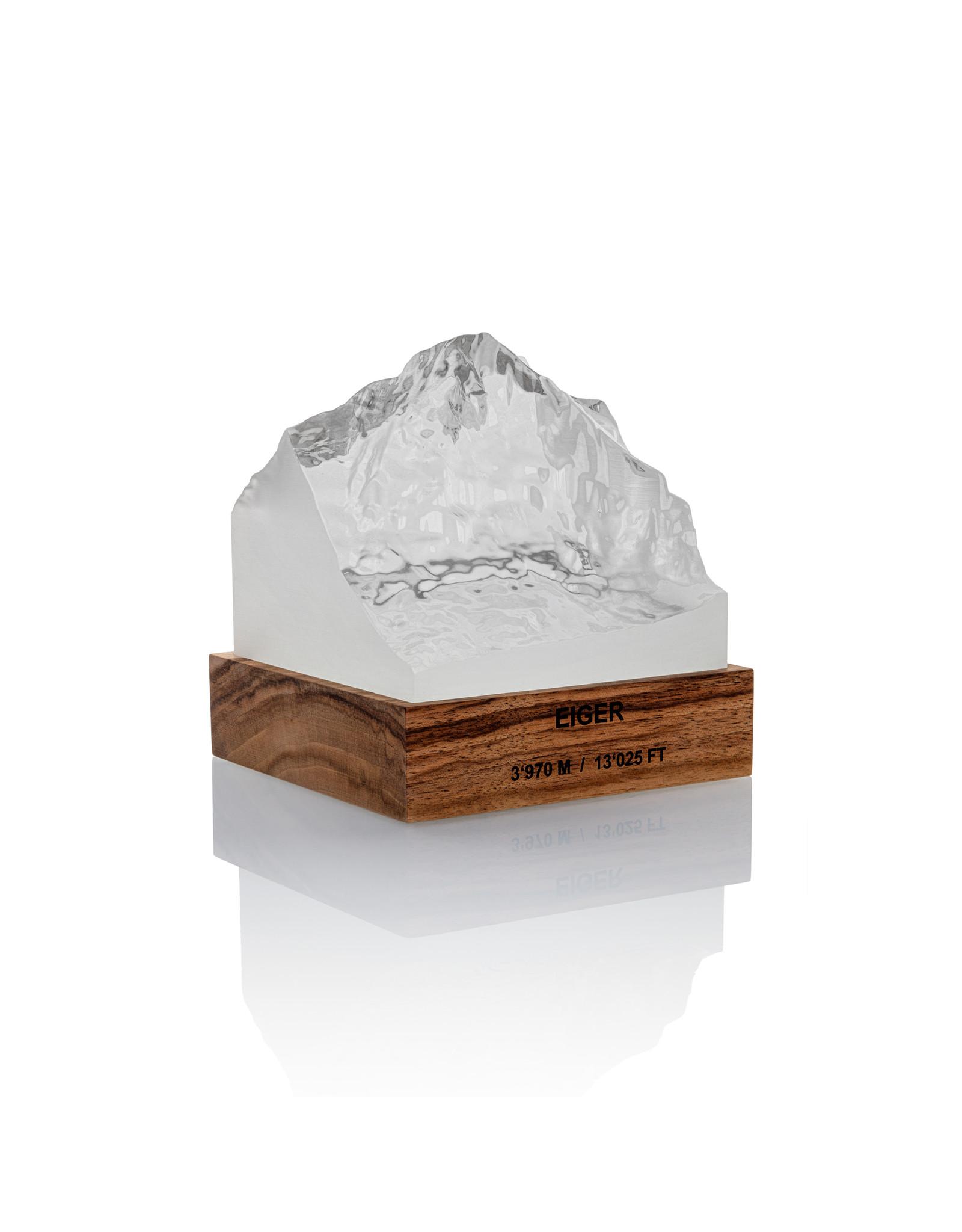 My Little Mountain Bergmodell Eiger Nussbaum/Kunstharz