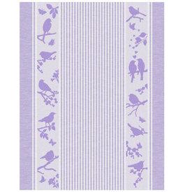 Rigotex Küchentuch Vögel auf Streifenfond