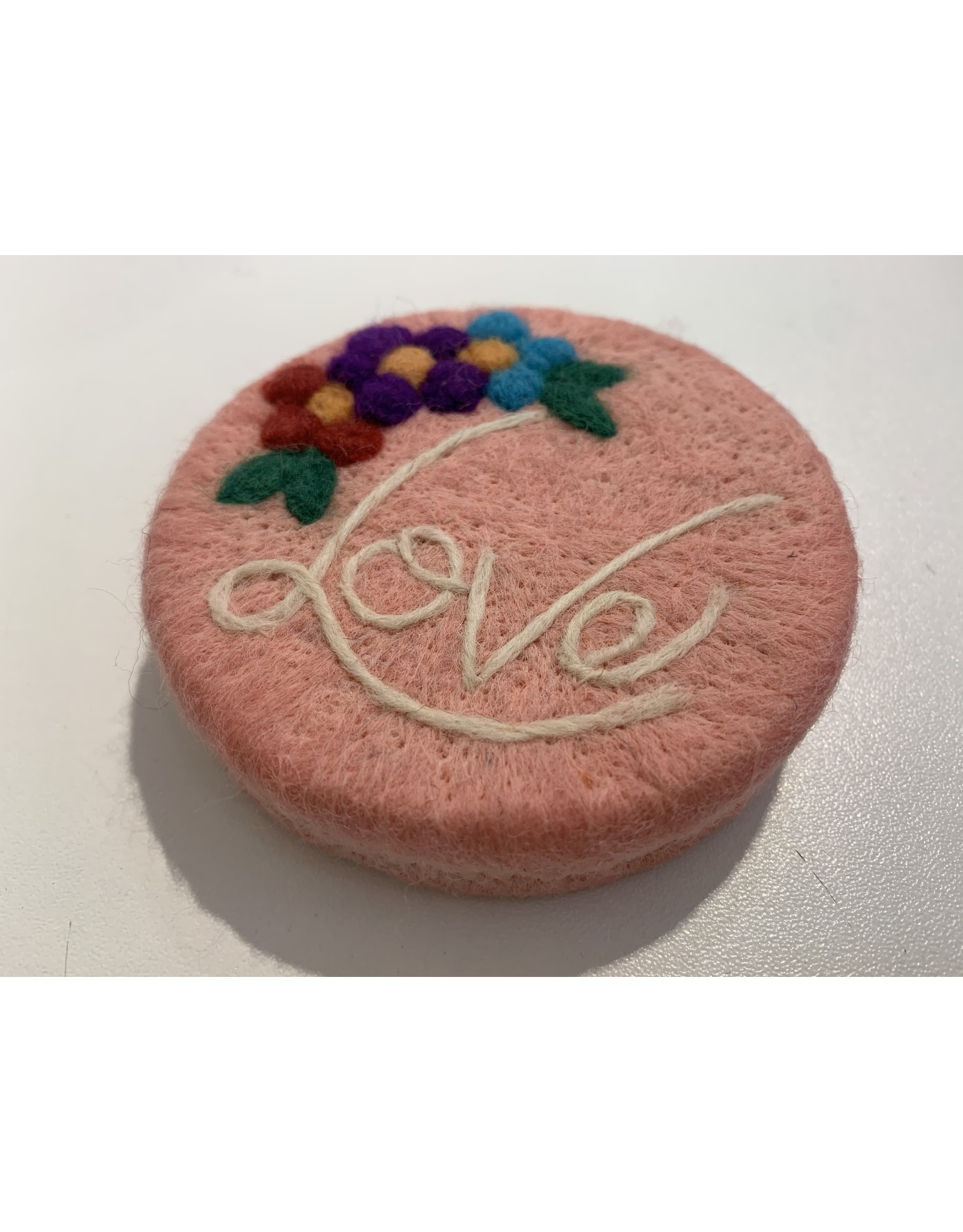 Filzseife Rosa/Love 100% Wollfilz Handmade