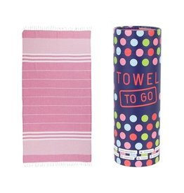 Towel to go Malibu pink