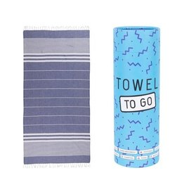 Towel to go Malibu blue