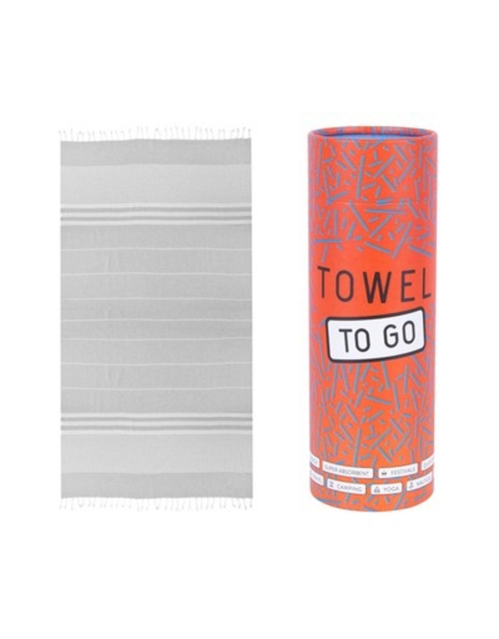 Towel to go Malibu grey 100%BW oeko tex