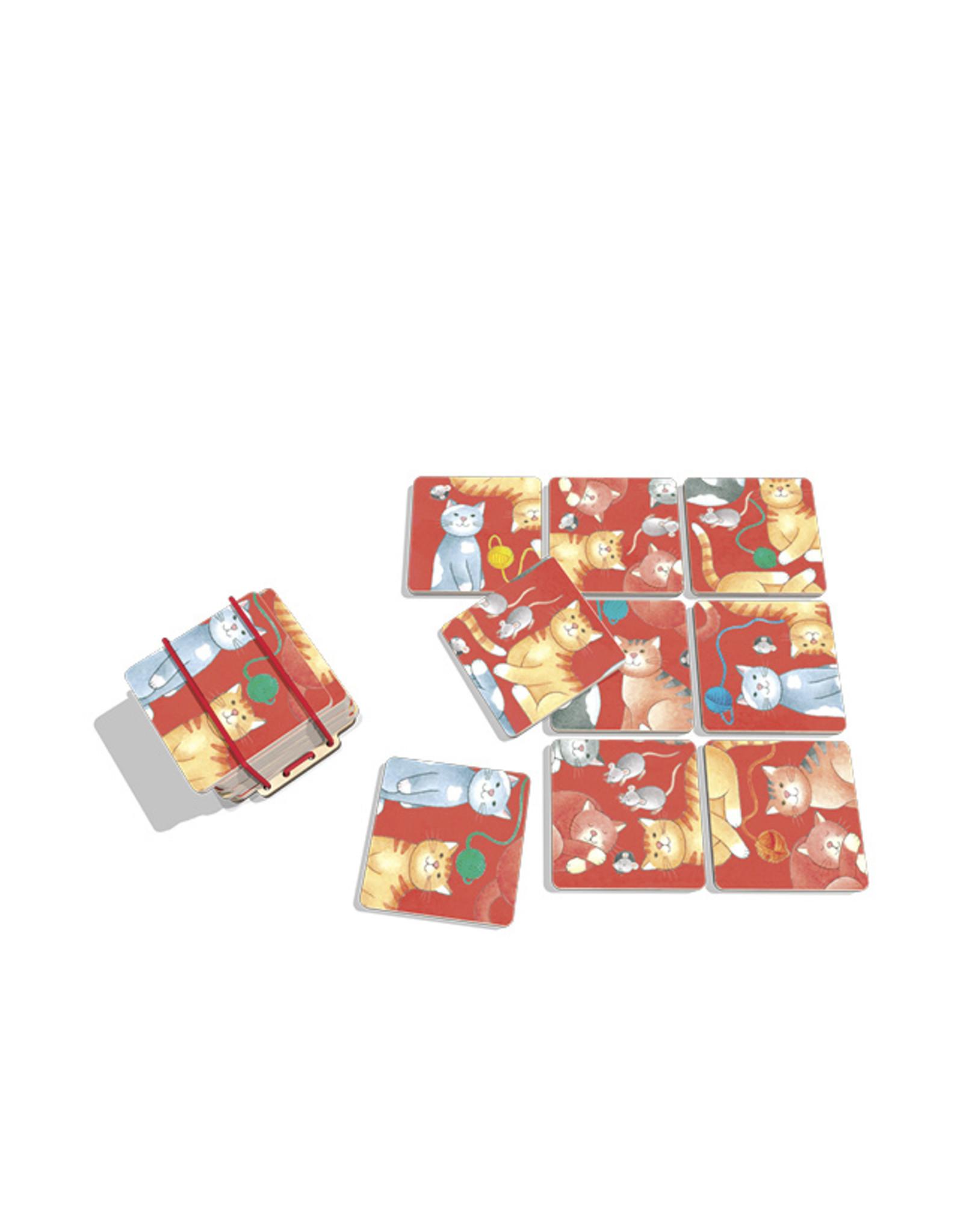 Pocketpuzzles Katzen  Basel 7x6x5 9-teilig