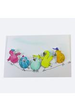 Birds Karte Handgeschšpftes Papier