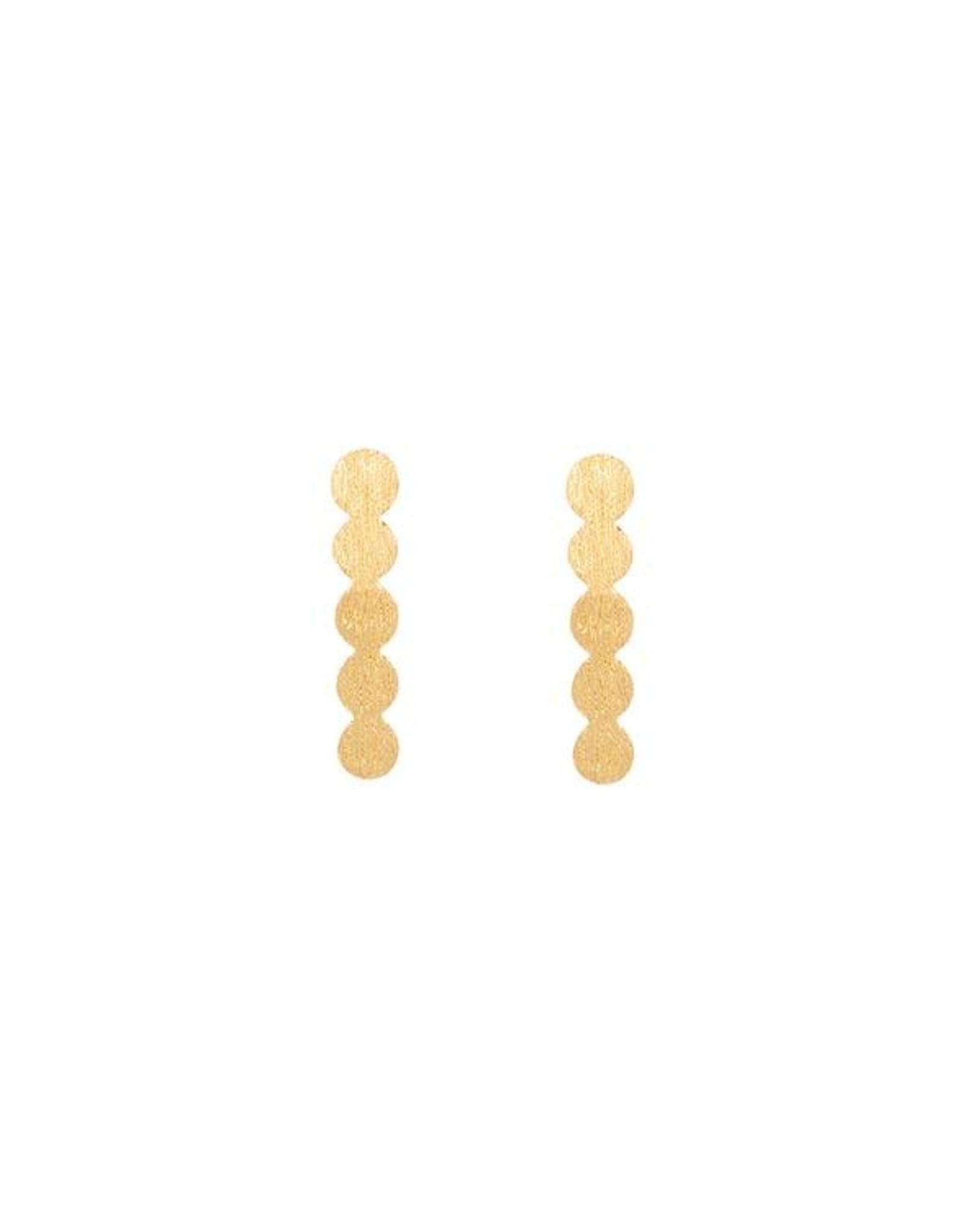 Ohrstecker Disc Line 925 Silber vergoldet