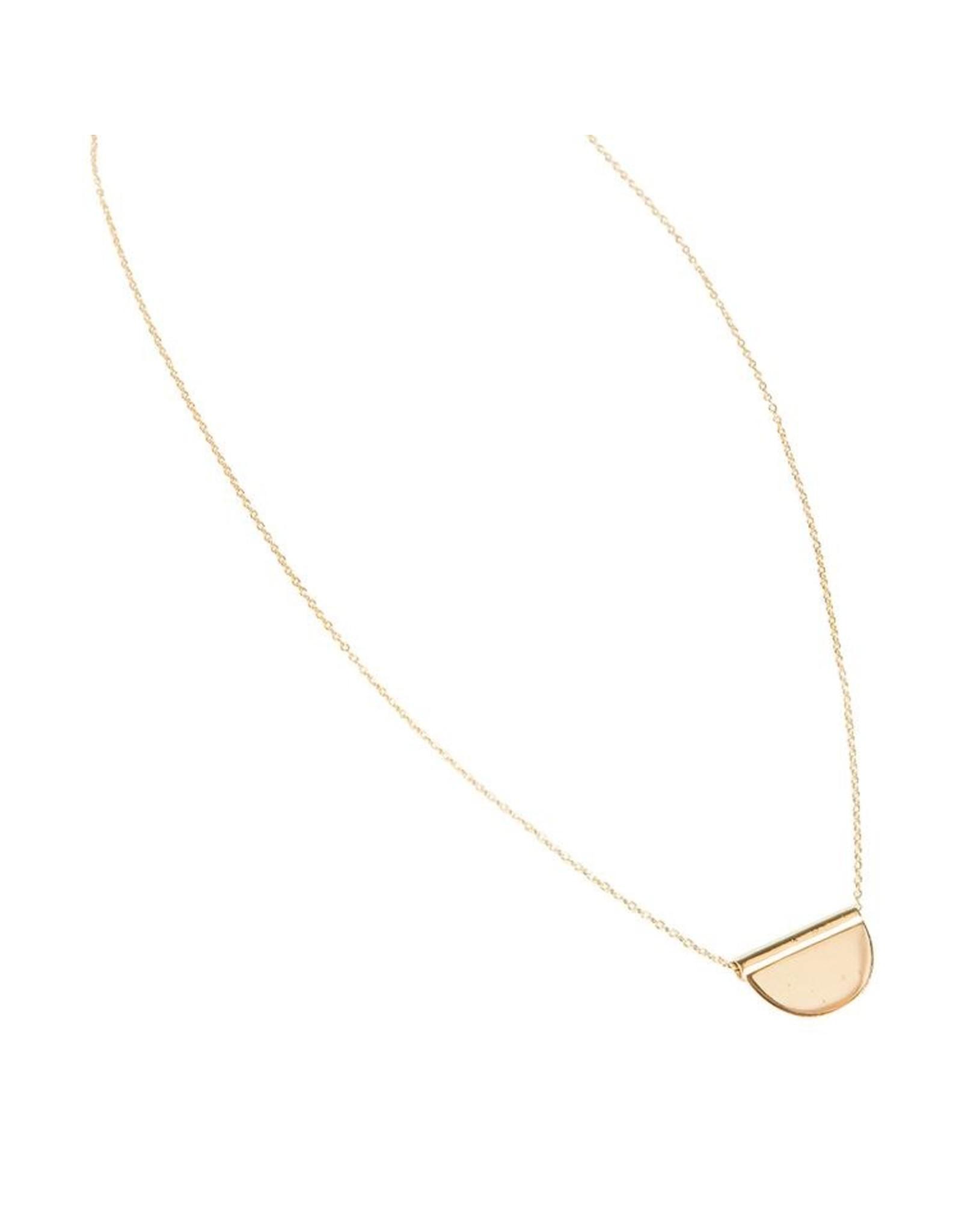 Halskette Halfmoon Disc 925 Silber vergoldet