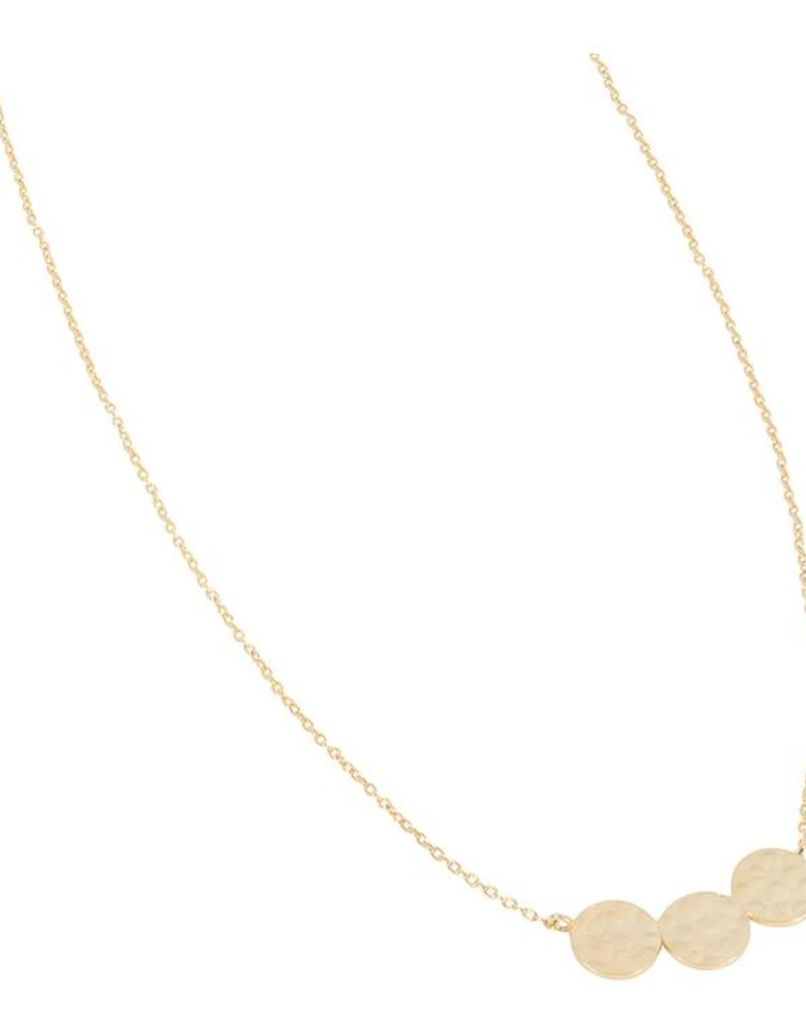 Halskette Triple Disc 925 Silber vergoldet