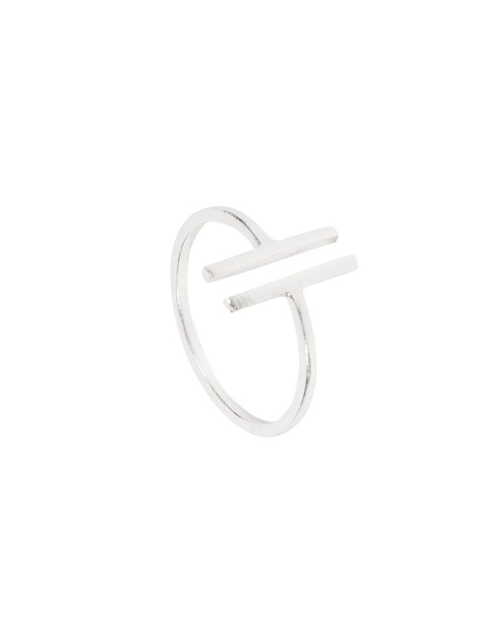 Ring Two Bars 925 Silber