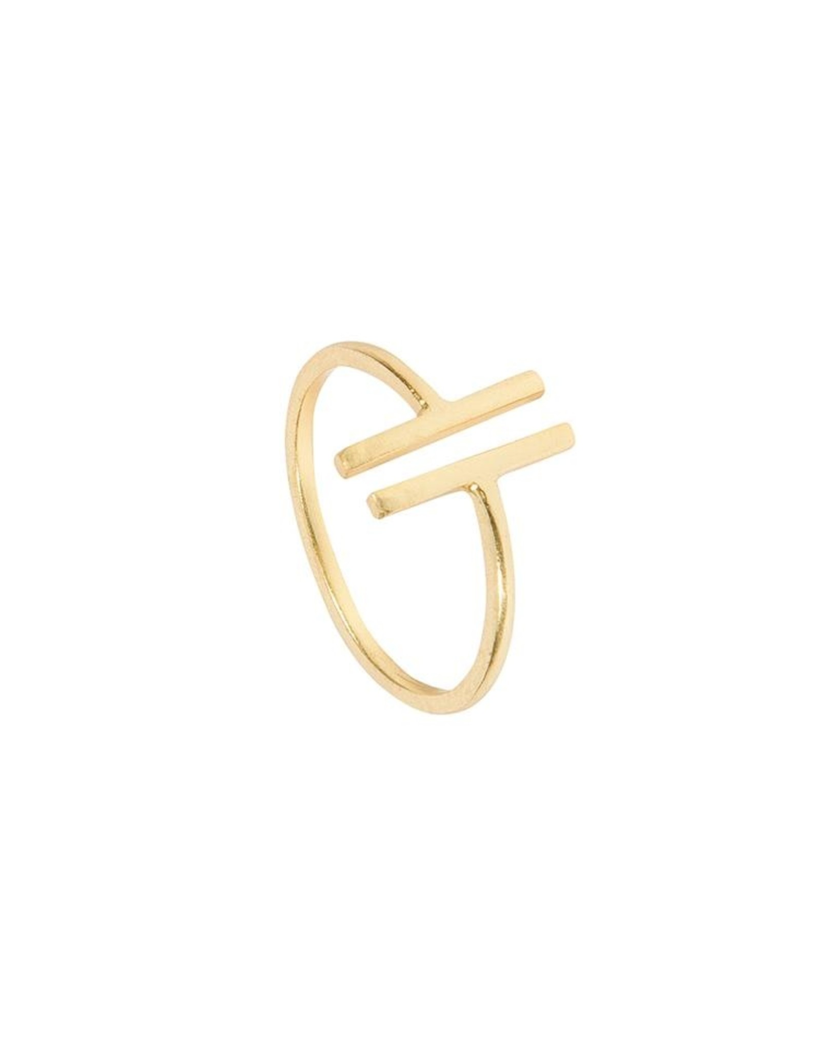 Ring Two Bars 925 Silber vergoldet
