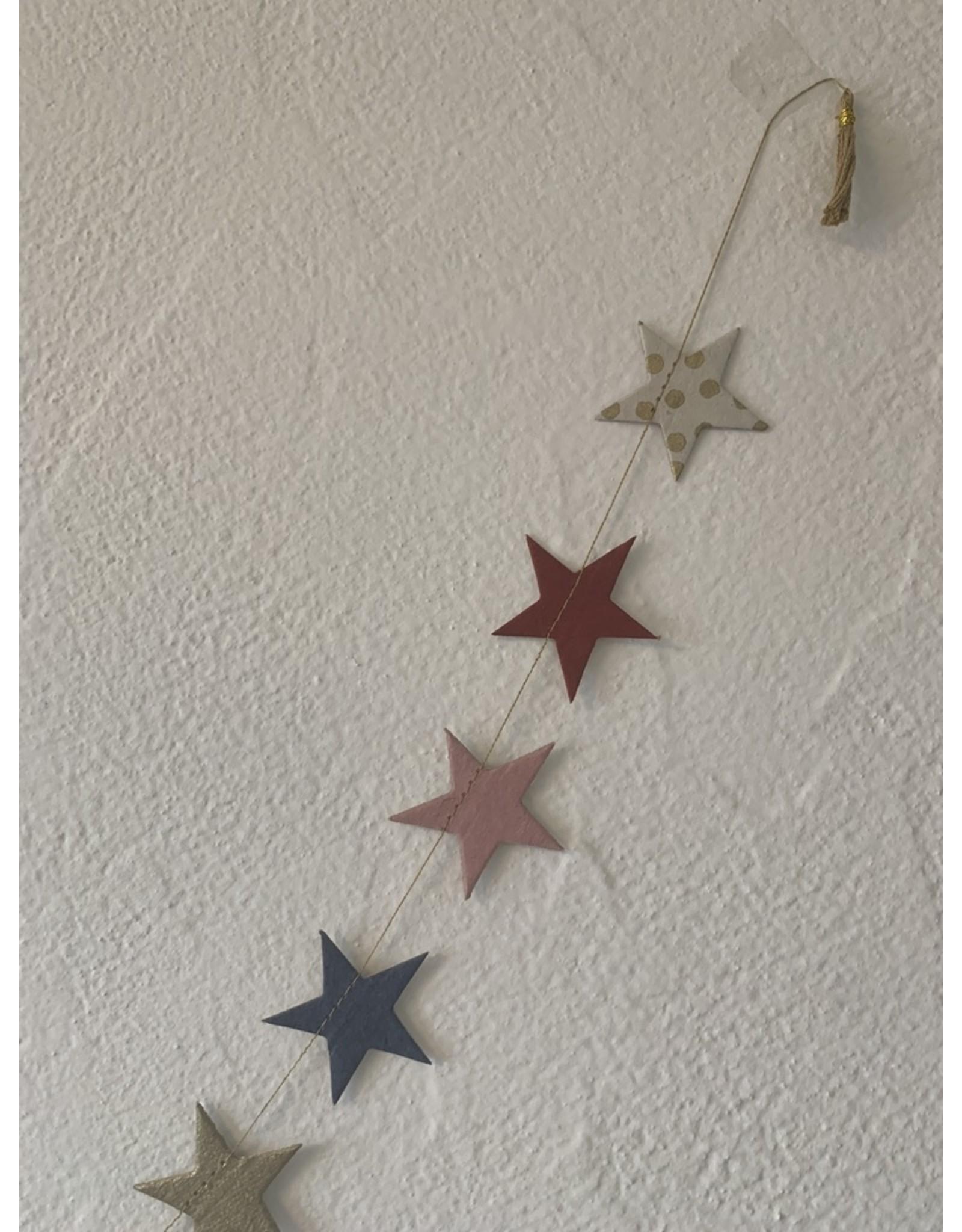 Girlande Sterne klein Handgeschöpftes Papier