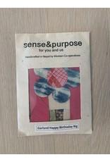 sense&purpose Girlande Happy Birthday gross Handgeschöpftes Papier