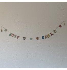sense&purpose Girlande Just Smile klein