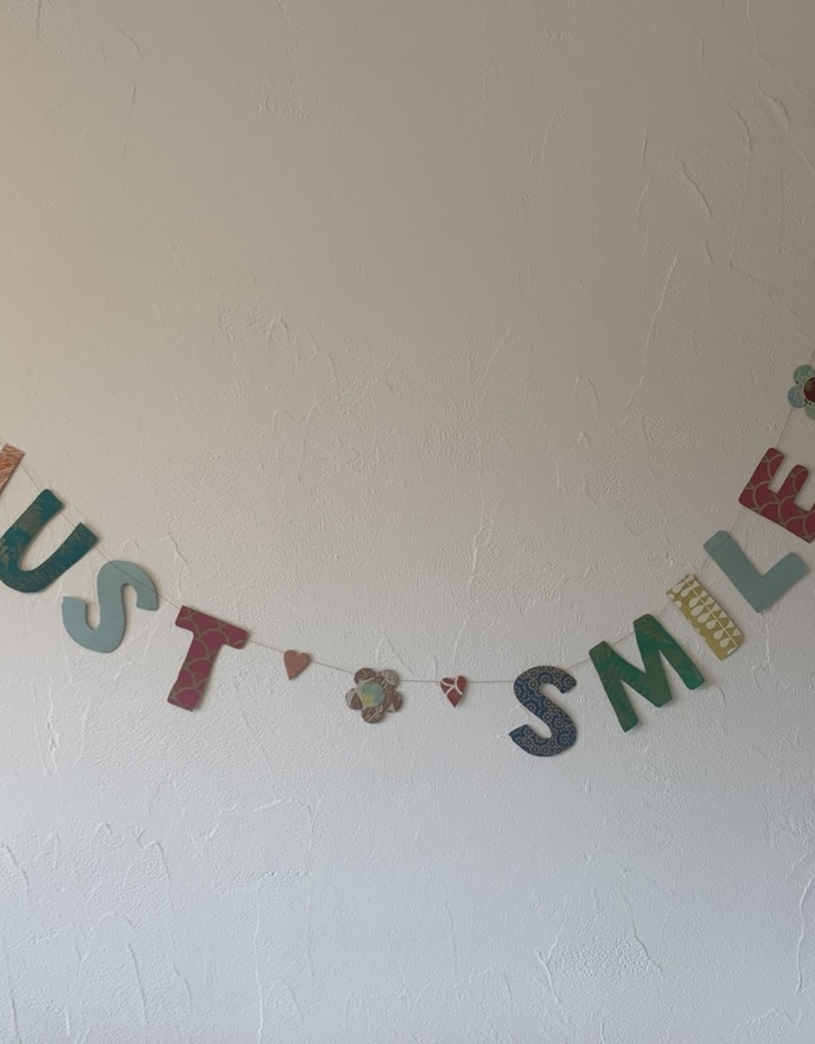 Girlande Just Smile gross Handgeschöpftes Papier