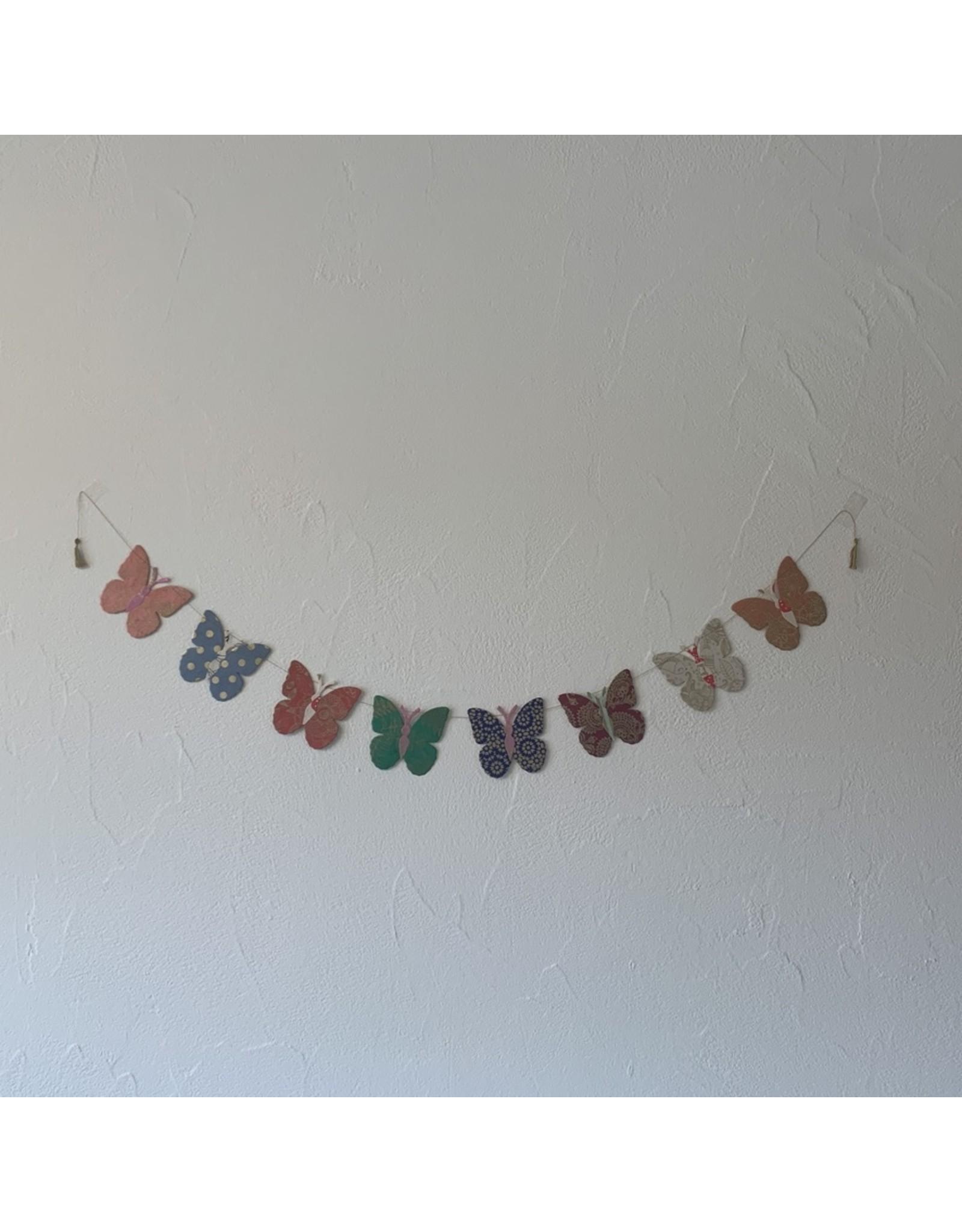 sense&purpose Girlande Happy Schmetterling gross Handgeschöpftes Papier