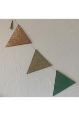 Girlande Dreieck gross Handgeschöpftes Papier