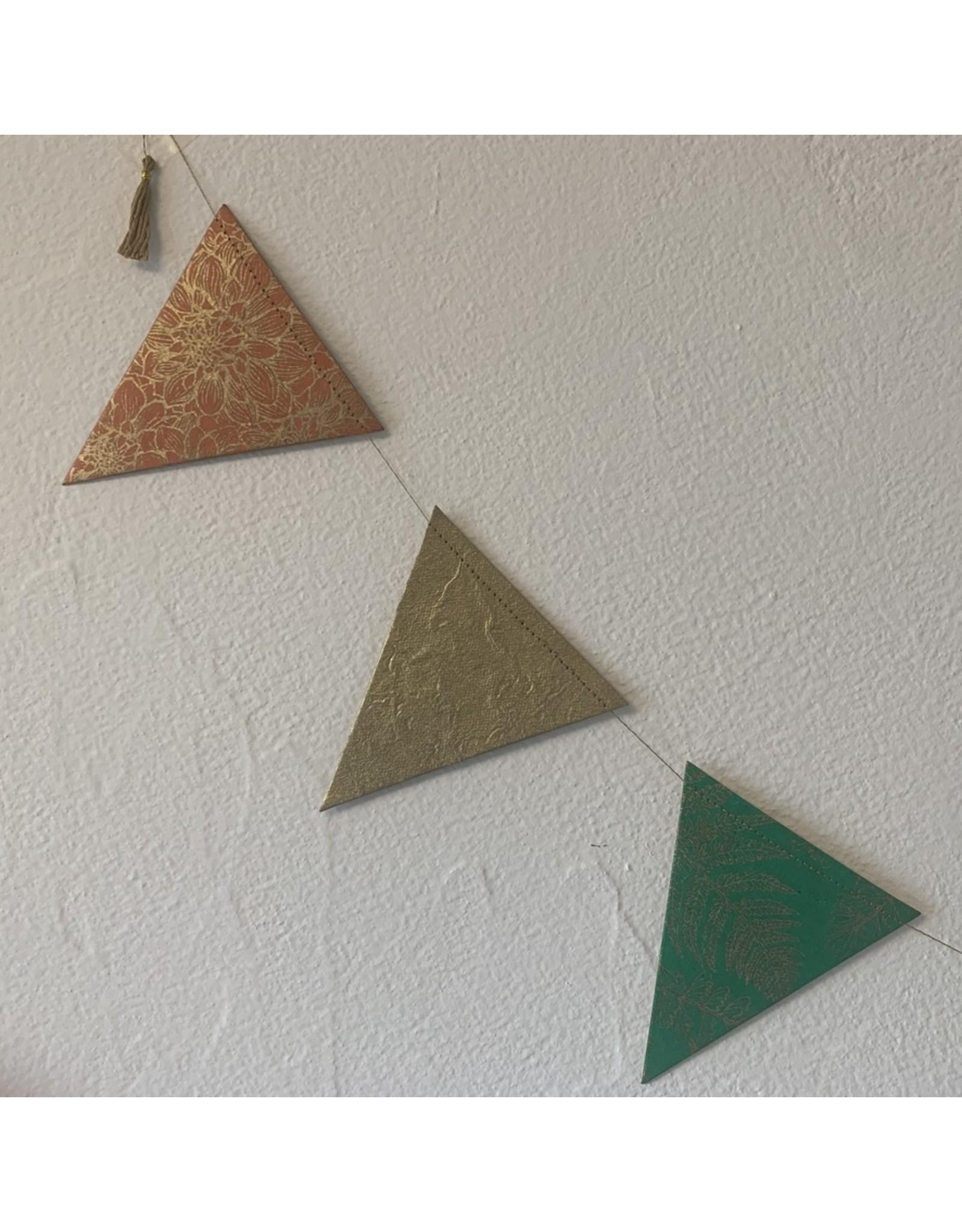 sense&purpose Girlande Dreieck gross Handgeschöpftes Papier
