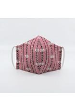 Edelweiss rosa 3-lagig mit Filterfach und Nasenbügel 100% Baumwolle