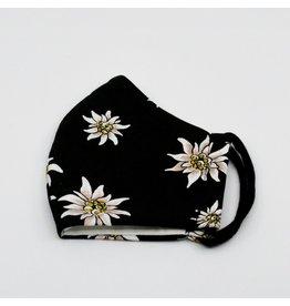 Edelweiss schwarz 3-lagig mit Filterfach und Nasenbügel