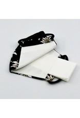Edelweiss schwarz 3-lagig mit Filterfach und Nasenbügel 100% Baumwolle