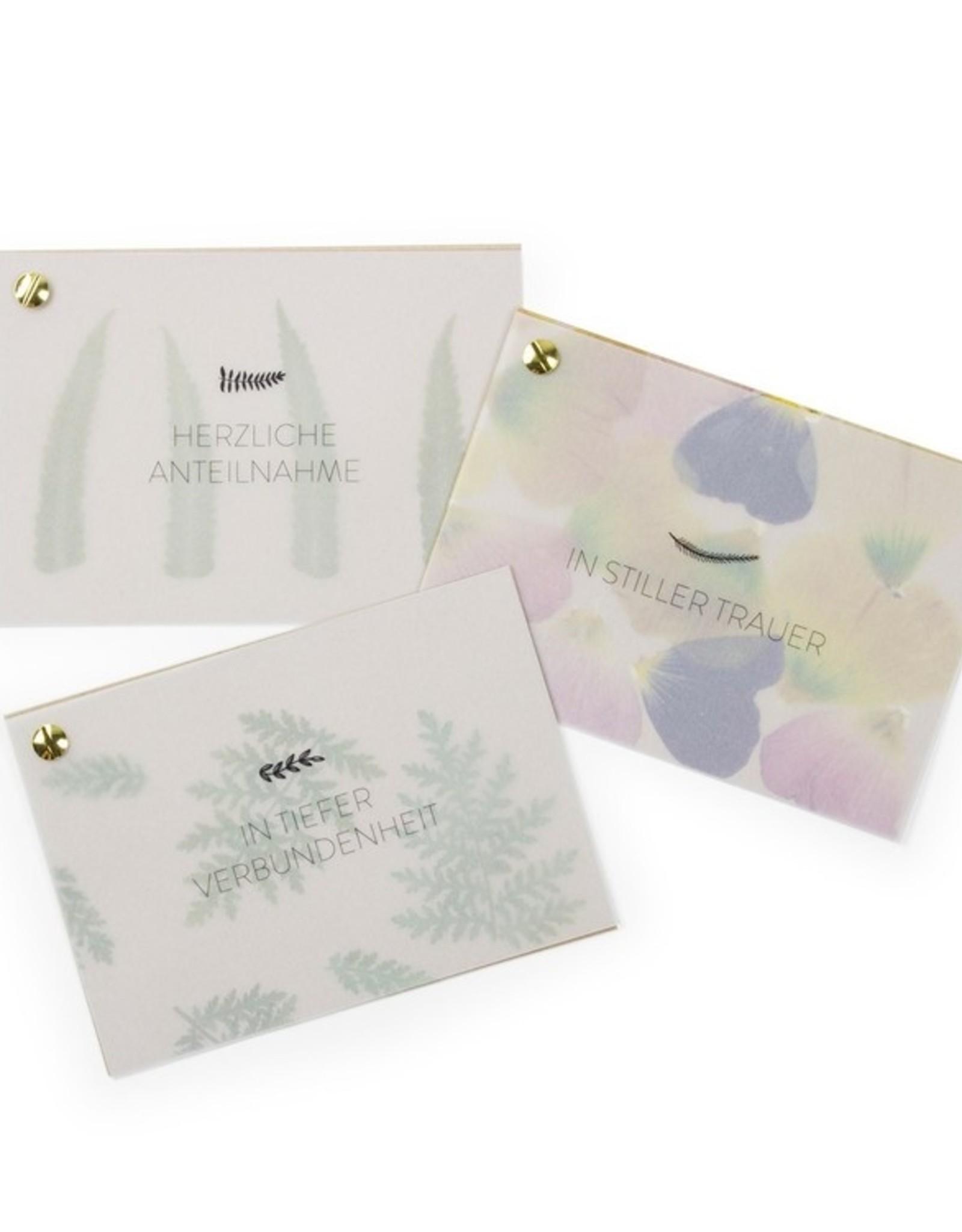 Fidea design Flower Press in stiller Trauer