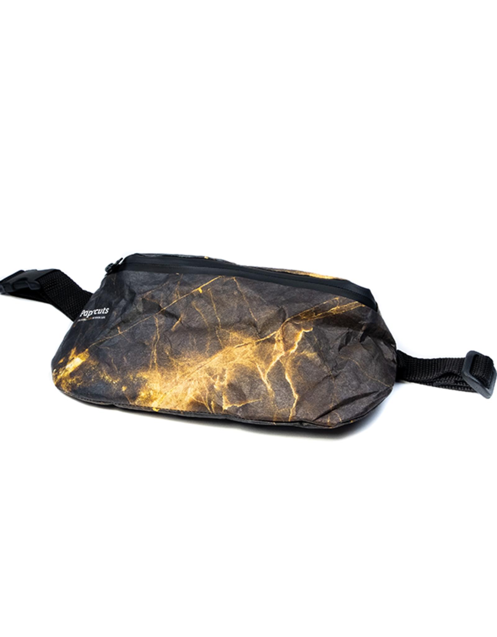 Paprcuts Bauchtasche - Black Marble Tyvek