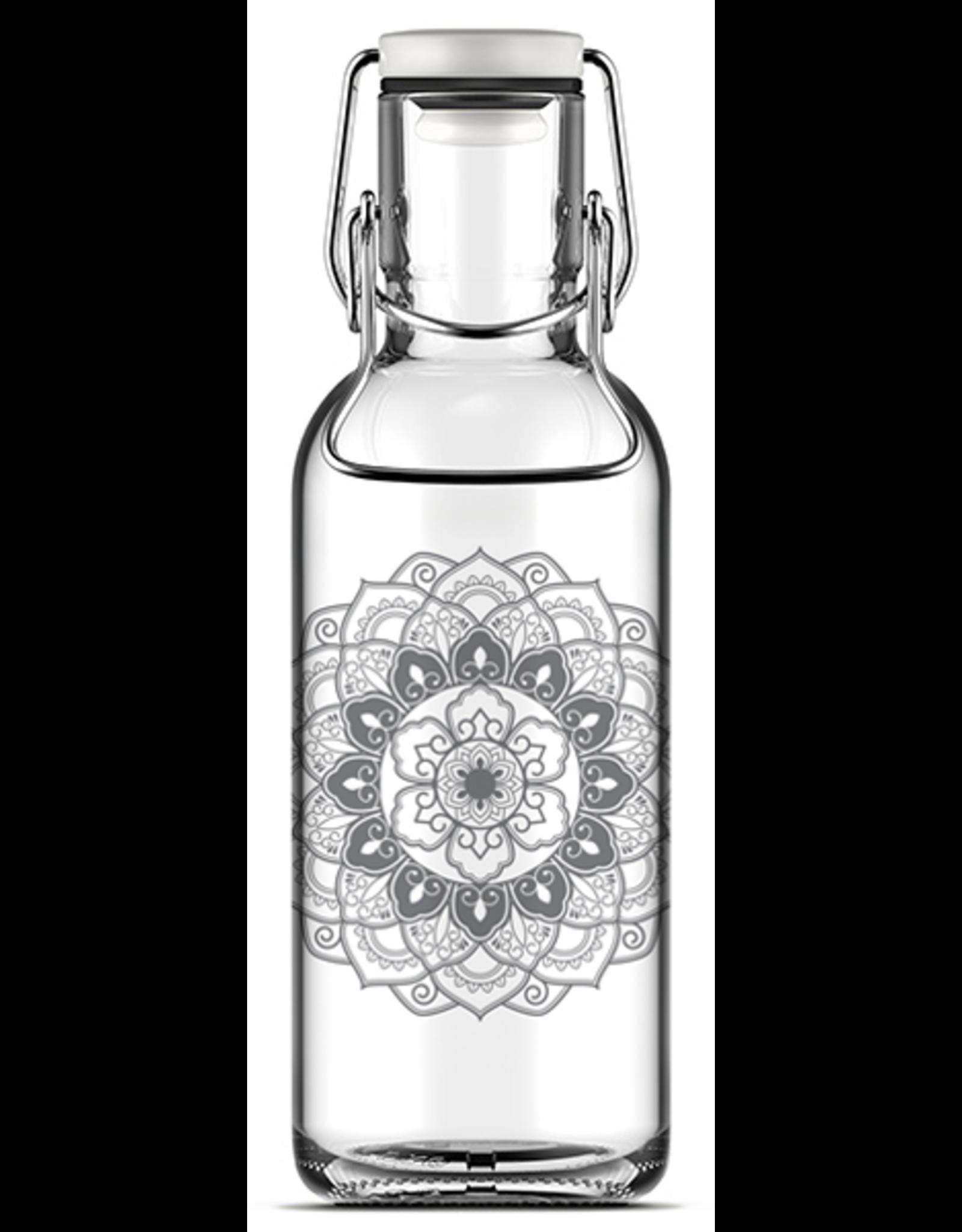 Fill Me Flasche Mandala 0.6L Laborglas / Hitzebe.