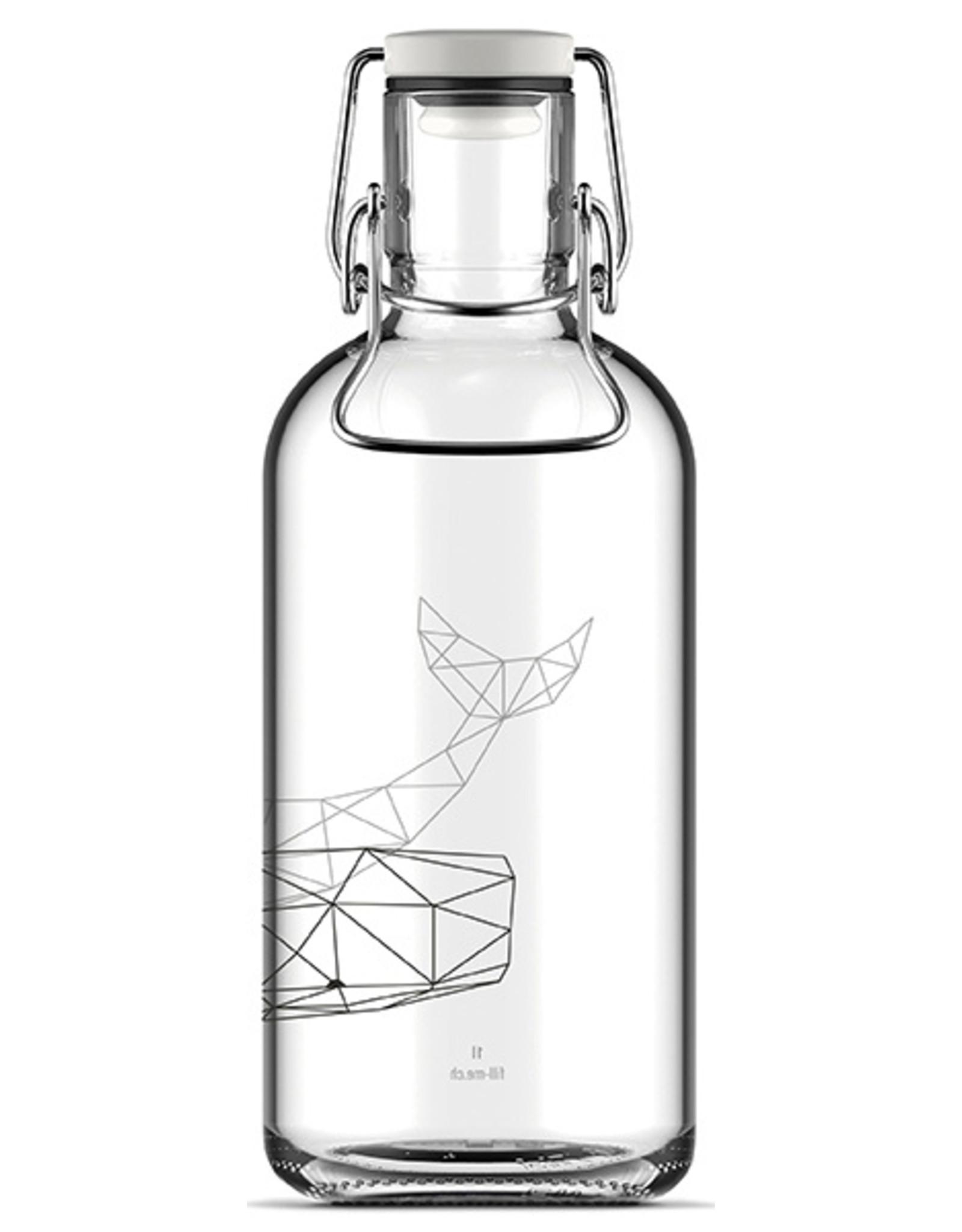 Flasche Moby Dick 1L Laborglas / Hitzebeständig