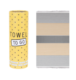 Towel to Go Bali, Grey/Mustard