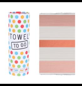Towel to go Bali orange/beige