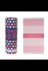 Towel to Go Bali, Fuchsia/Pink 100% BW oeko tex