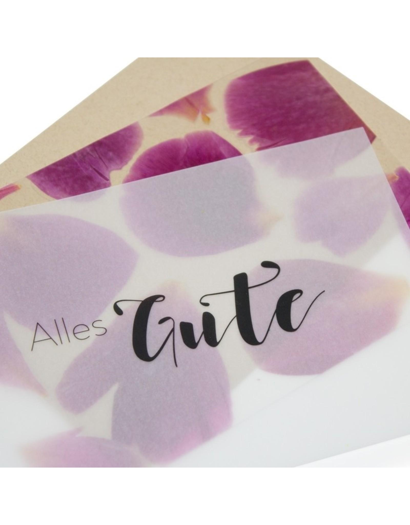 Fidea design Flower Press  Alles Gute