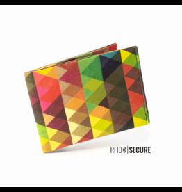 Paprcuts Portemonaie RFID Dreiecke Bunt