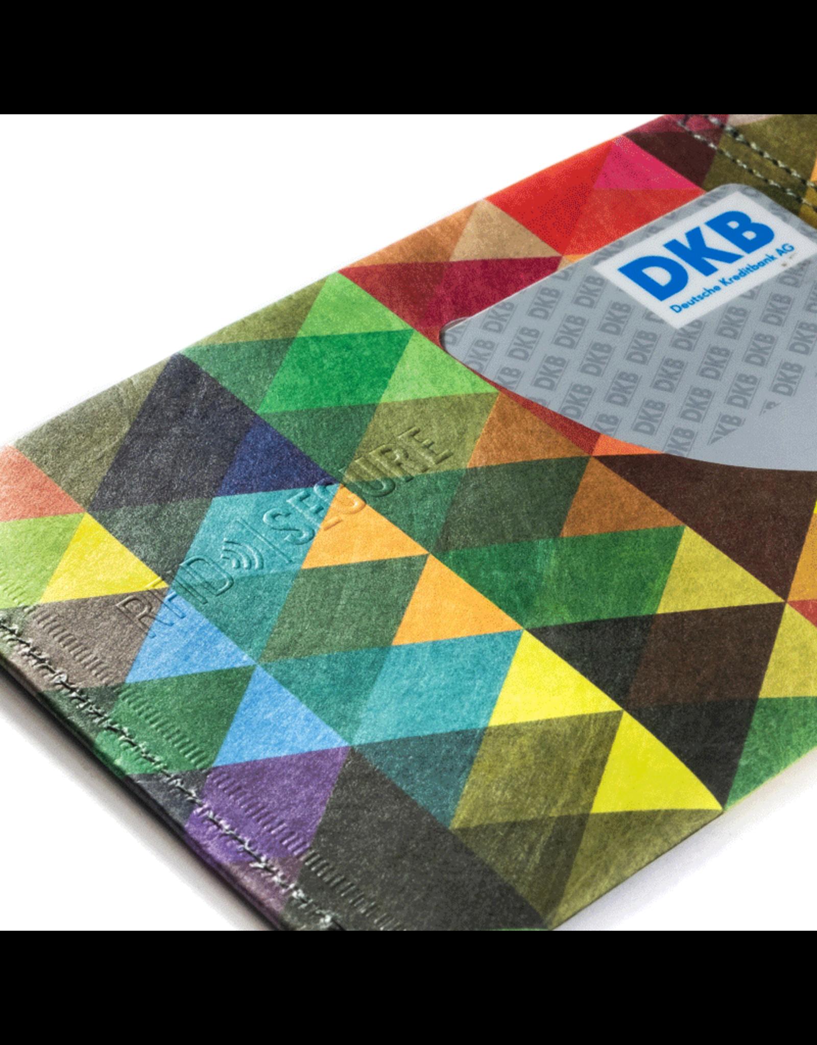 Paprcuts Portemonaie RFID Dreiecke Bunt Tyvek