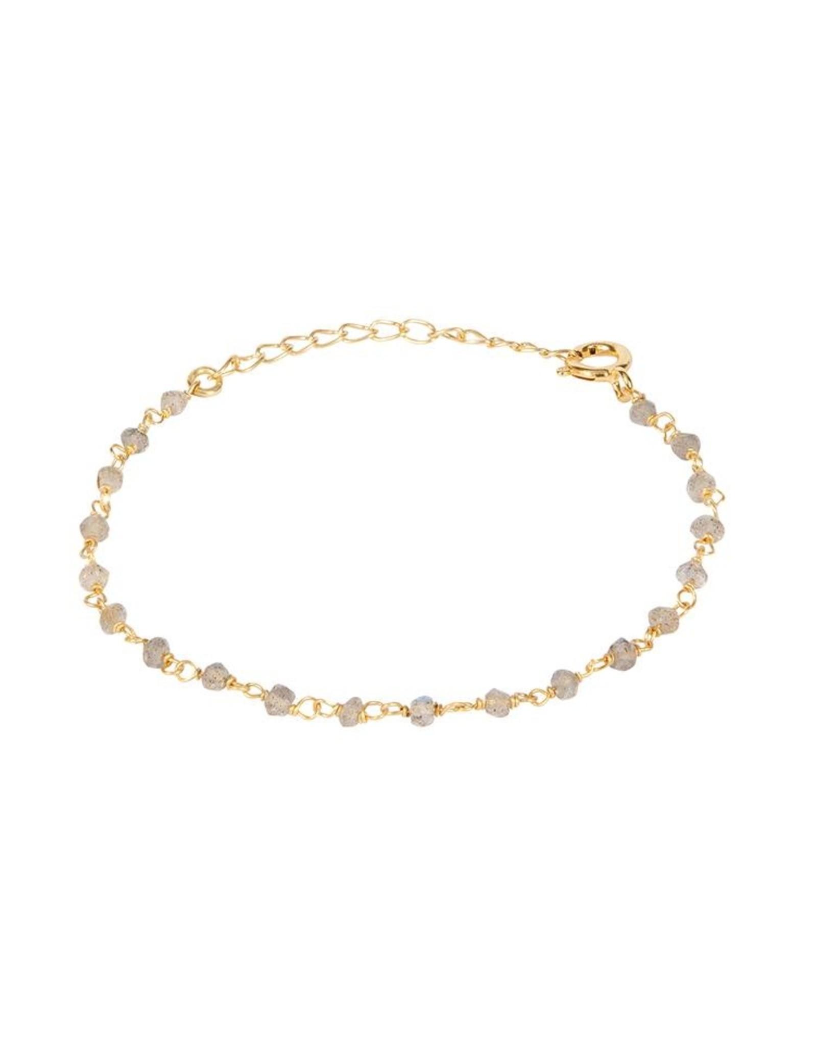 Armband Little Stones 925 Silber vergoldet labradorit